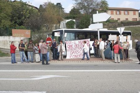 manifestation à Annonay le 4/10/2012