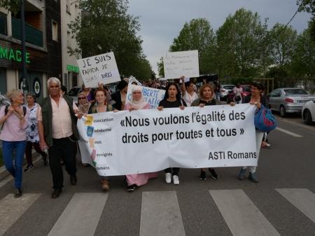 Marche de soutien à Romans le 20 juin 2019